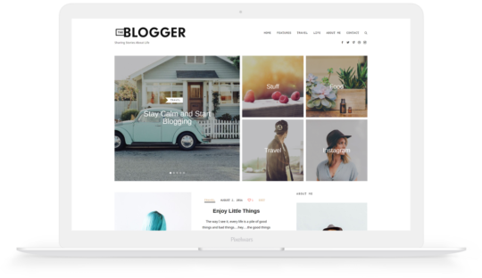 theblogger theme preview image