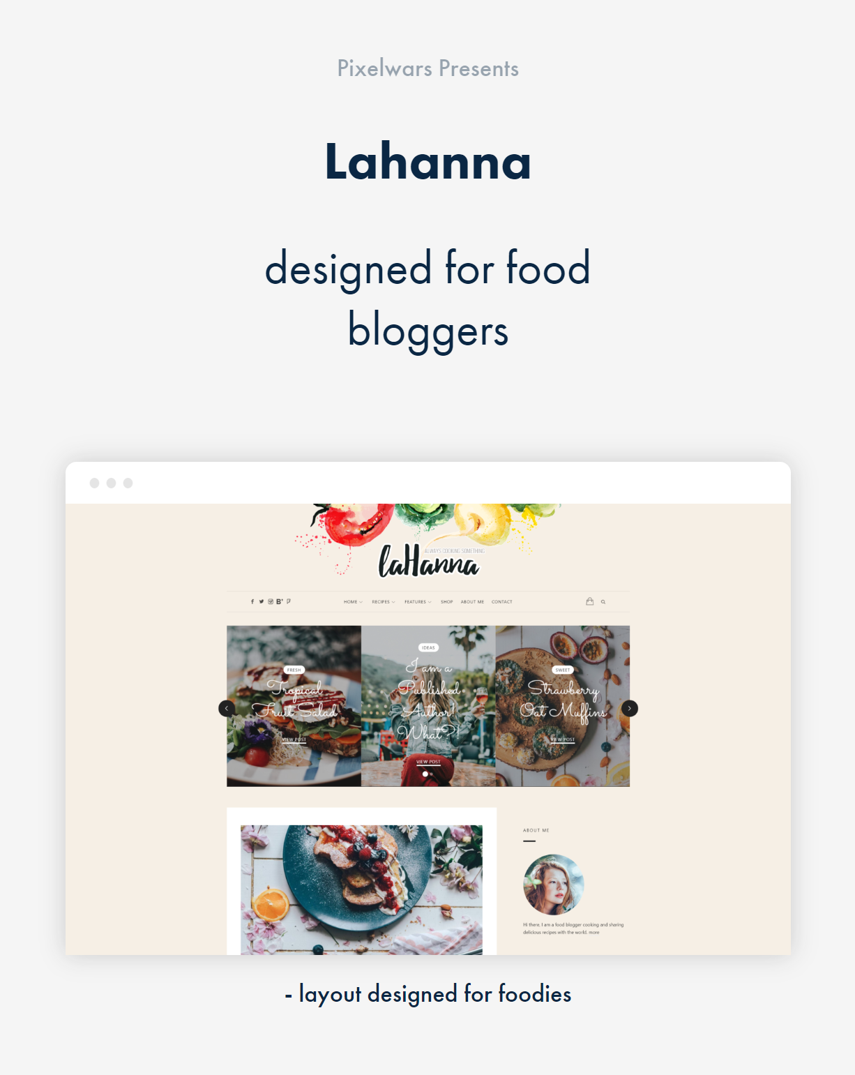Lahanna WordPress Theme for Food Bloggers