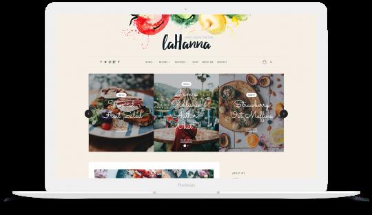 Lahanna WordPress Theme for Food Bloggers